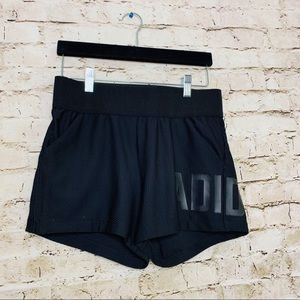 ADIDAS BLACK WORKOUT SHORTS SZ SMALL